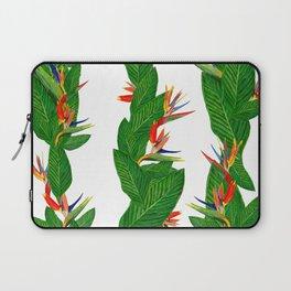 Bird of Paradise Flower. Tropical Beauty Flower Pattern Laptop Sleeve