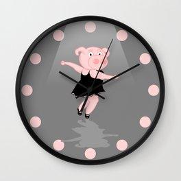 Pig Ballerina Wall Clock