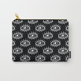 Eye of wisdom pattern-Black & White- Mix & Match with Simplicity of Life Carry-All Pouch