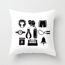 All The Things You Need To Become A Great Boxer Throw Pillow