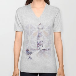morescos lighthouse Unisex V-Neck