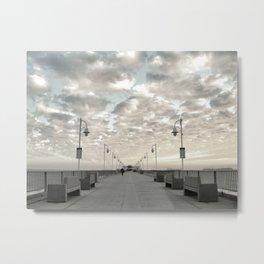 Pier Break Metal Print