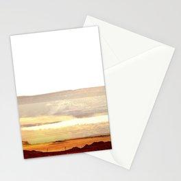 Abstract Desert Landscape, Modern Southwest Stationery Cards