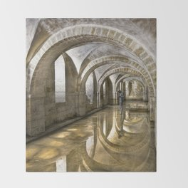 Winchester Cathedral Crypt Throw Blanket