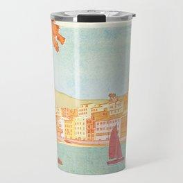 Italy, Cinque Terre Vintage Travel Poster Travel Mug