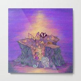 In the mushroom cove Metal Print
