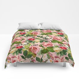 Vintage Botanicalia #illustration #pattern #botanical Comforters