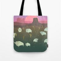 bison Tote Bags featuring Bison by N1MH