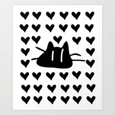 LOVE LOVE CAT Art Print