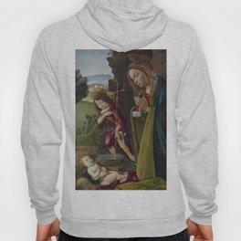 "Sandro Botticelli ""Adoration of Christ with Saint John"" Hoody"