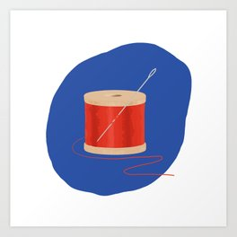 Thread and Needle Art Print