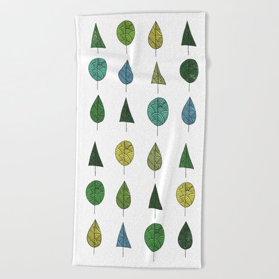 TREES MAKE A FOREST Beach Towel