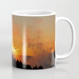 Stormy Dramatic Sunset Mountain Landscape Coffee Mug