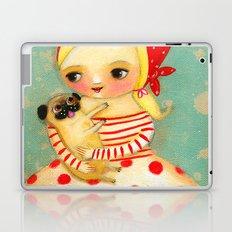 Babushka with pug dog Laptop & iPad Skin