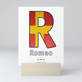 Romeo - Navy Code Mini Art Print