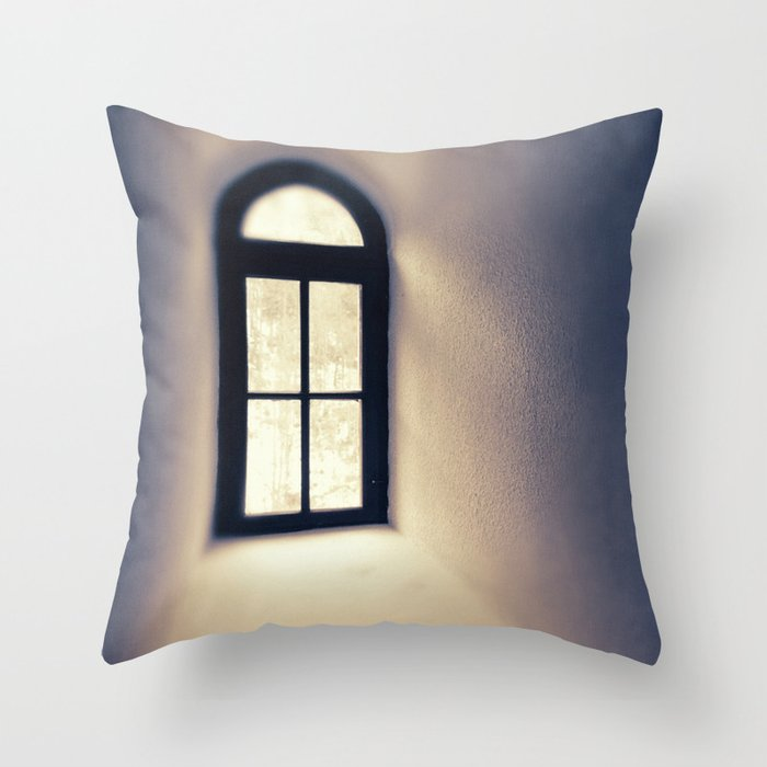 Mystic Window Photography Throw Pillow