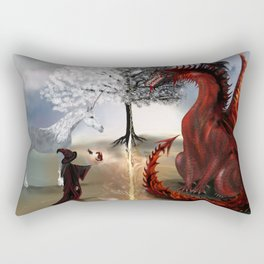 The Owl,Wizard,Unicorn and the Dragon Rectangular Pillow