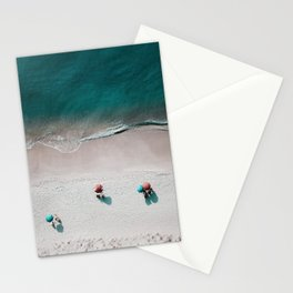 Turquoise Sandy Beach Stationery Cards