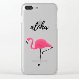 Aloha / Flamingo Clear iPhone Case