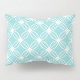 Abstract Circle Dots Mint Pillow Sham