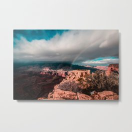 Rainbow over the Canyon Metal Print