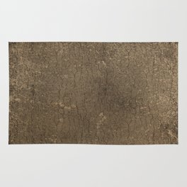 Rustic Tree Bark Pattern Rug