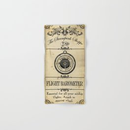 Steampunk Apothecary Shoppe - Barometer Hand & Bath Towel
