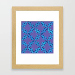 Diamond Shapes and Dots Framed Art Print