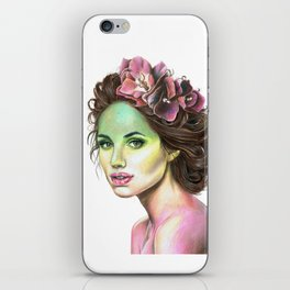 Flowers in Her Hair iPhone Skin