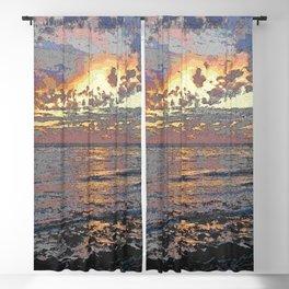 Sunset Seascape Blackout Curtain