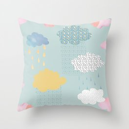 Cloud Shapes and Patterns. Throw Pillow