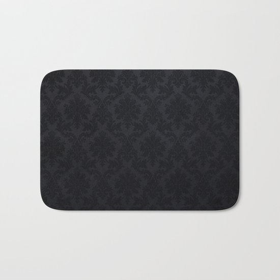Black damask- Elegant and luxury design Bath Mat