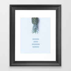 pineapple crown Framed Art Print