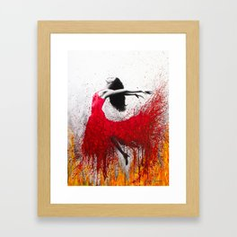 Rise Above The Flames Framed Art Print