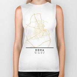 DOHA QATAR CITY STREET MAP ART Biker Tank