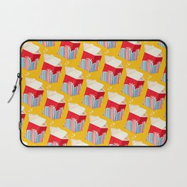 Milk Pattern - Yellow Laptop Sleeve