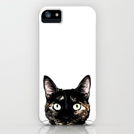 Peeking Cat iPhone Case