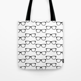 Black Funky Glasses Tote Bag