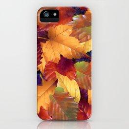 Fallen leaves I iPhone Case