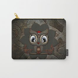 Cute little steampunk owl with floral elements Carry-All Pouch