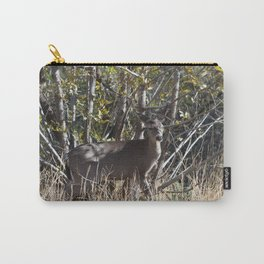 Doe at the edge of the woods line in Payson, Arizona Carry-All Pouch