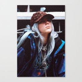 Billie Eilish with a LV hat Canvas Print