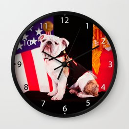 Bulldog Navy Official Mascot Dog Wall Clock