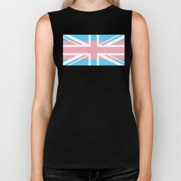 Gay Pride LGBT Transgender UK Union Flag Stripe design Biker Tank