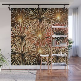 Fire Works Display Design Wall Mural
