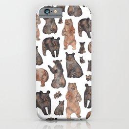 Woodland Bear Pattern iPhone Case