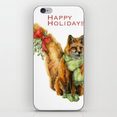 Foxy Mistletoe iPhone & iPod Skin