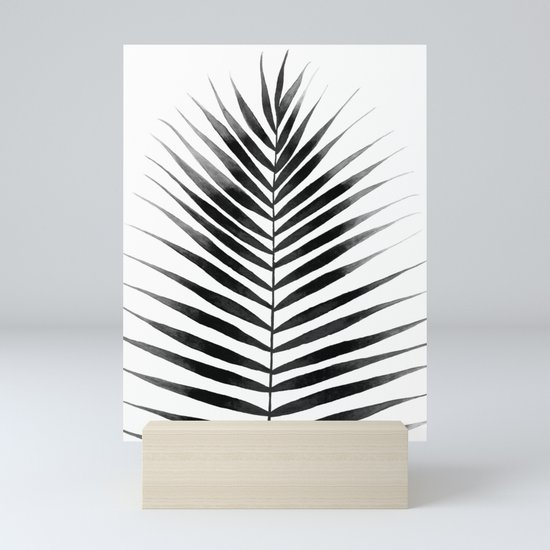 Palm Leaf Watercolor | Black and White by ccartstudio