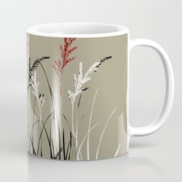 Grass leaves in earthy Color Palette Coffee Mug