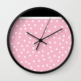 Pink Black Collection Wall Clock